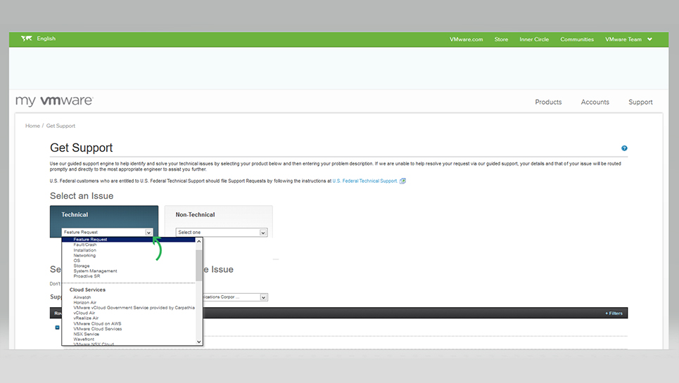 VMware - How to File a Support Request Online | AP